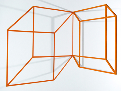 Necker Cube - Orange Wall